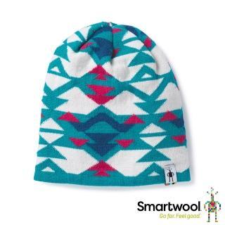 【SmartWool】孩童幾何雙面圓帽(地中海藍)  SmartWool