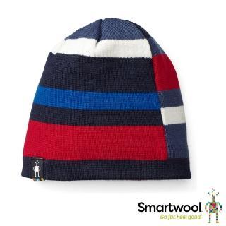 【SmartWool】孩童撞色條紋雙面圓帽(霧藍)推薦折扣  SmartWool