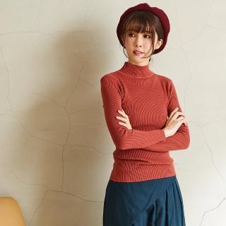 【*KatieQ 慢。生活】加厚中領坑條針織上衣-F(紅)強力推薦  *KatieQ 慢。生活