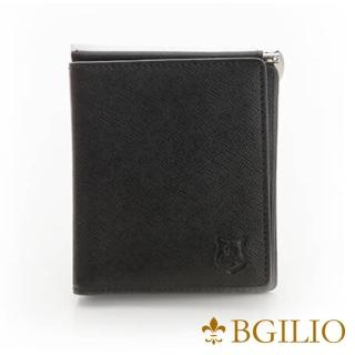 【義大利BGilio】都會十字紋牛皮歐風輕薄短夾-黑(2299.301-05)推薦折扣  義大利BGilio