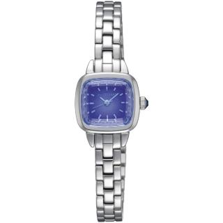 【JILL STUART】Ring Square系列優雅時尚方型錶款(銀/藍紫面 JISILDV003) 推薦  JILL STUART