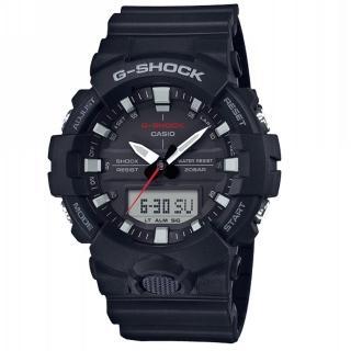 【CASIO 卡西歐】G-SHOCK 絕對強悍系列/獨立秒針設計/49mm/黑(GA-800-1A)  CASIO 卡西歐