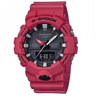 【CASIO 卡西歐】G-SHOCK 絕對強悍系列/獨立秒針設計/49mm/紅(GA-800-4A)  CASIO 卡西歐