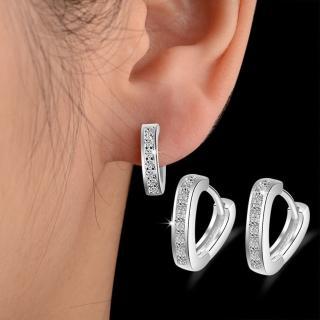 【梨花HaNA】韓國925銀針勝利女神V字鋯石鑲嵌耳環強力推薦  梨花HaNA