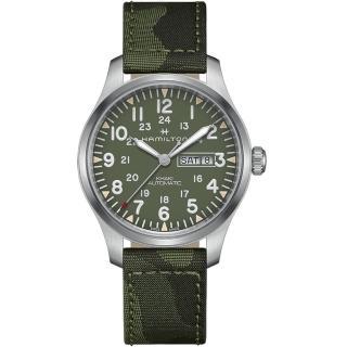 【HAMILTON 漢米爾頓】卡其野戰系列迷彩時尚腕錶(H70535061)  HAMILTON 漢米爾頓