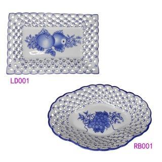 【KC】歐式高級鏤空瓷盤2入組(LD001+RB001)  KC