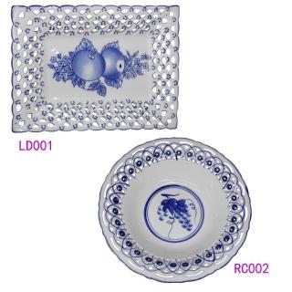 【KC】歐式高級鏤空瓷盤2入組(LD001+RC002)好評推薦  KC