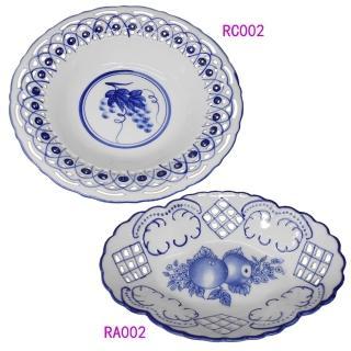 【KC】歐式高級鏤空瓷盤2入組(RA002+RC002)  KC