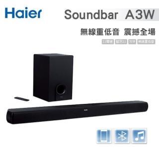 【Haier 海爾】藍牙無線Soundbar+無線重低音喇叭(A3W)  Haier 海爾