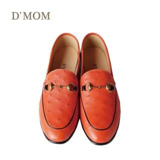 【DMOM】歐洲限定手工鴕鳥鞋(橘色)好評推薦  DMOM