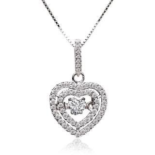 【ILG】八心八箭項鍊 - 三層愛心密鑽項鍊 NC240 密鑽設計 媲美真鑽亮度的鑽飾(新品搶先看)  ILG