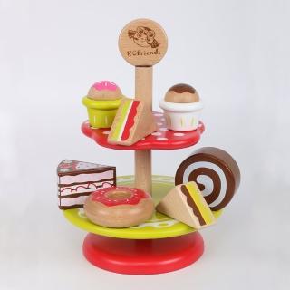 【KCFriends】C妹蛋糕組(木製家家酒玩具)真心推薦  KCFriends