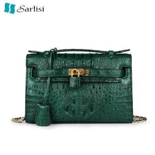 【Sarlisi】真皮鱷魚皮包女包凱莉包輕奢斜背包手提包(新款特賣14800 全網同款最低價)強力推薦  Sarlisi