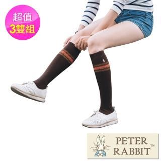 【PETER RABBIT 比得兔】賈克多提花精繡半統襪3件組(高質感精品)好評推薦  PETER RABBIT 比得兔
