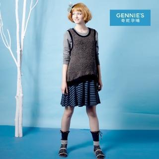【Gennies 奇妮】暖感時尚羊毛無袖洋裝(灰G2228)  Gennies 奇妮