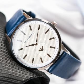 【EMPORIO ARMANI】經典紳士灰白腕錶(AR11119)好評推薦  EMPORIO ARMANI