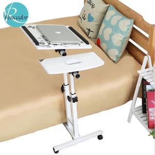 【VENCEDOR】床邊可升降360度旋轉雙桿電腦桌/懶人桌(一入組)  VENCEDOR
