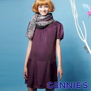 【Gennies 奇妮】夢幻系絲質感飄逸洋裝(紫G1212)  Gennies 奇妮