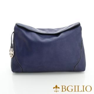 【義大利BGilio】銷優雅簡約隨身小側肩背包-紫藍(2046.001D-10A)  義大利BGilio