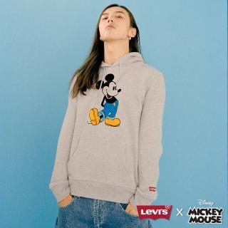 【LEVIS】Levis x MICKEY聯名 / 連帽TEE / 灰色  LEVIS