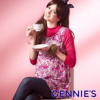 【Gennies 奇妮】復古情懷無袖長版上衣(紅/紫G3221)真心推薦  Gennies 奇妮