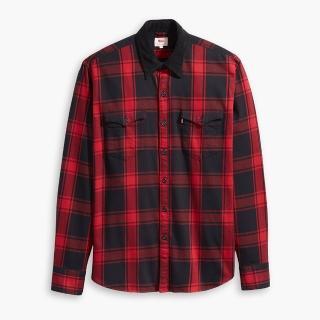 【LEVIS】男款 襯衫 / 燈心絨領子 / 紅黑格紋  LEVIS