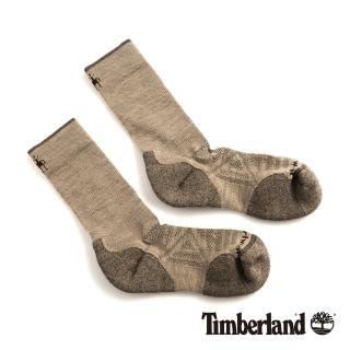 【Timberland】男款米色透氣吸汗舒適中筒襪(01069241)  Timberland