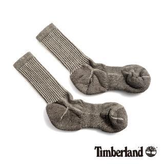 【Timberland】男款灰褐色吸汗環保羊毛半筒襪(SW129236)好評推薦  Timberland