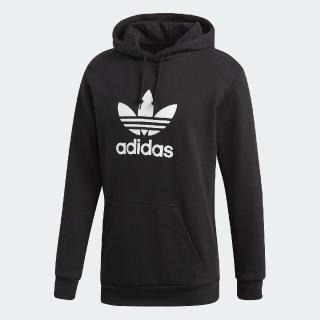 【adidas 愛迪達】帽T Originals Trefoil 男款 愛迪達 基本款 潮流穿搭 舒適 黑 白(DT7964)  adidas 愛迪達