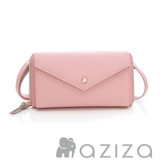 【AZIZA】斜背信封包(粉)  AZIZA