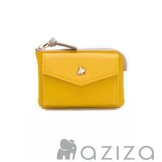 【AZIZA】AZIZA 信封零錢包(黃)真心推薦  AZIZA
