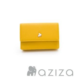 【AZIZA】翻蓋名片夾(黃)  AZIZA