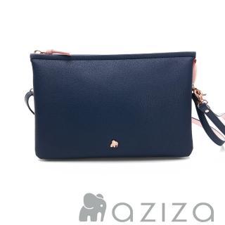 【AZIZA】BERYL 斜背手拎包-大(藍) 推薦  AZIZA