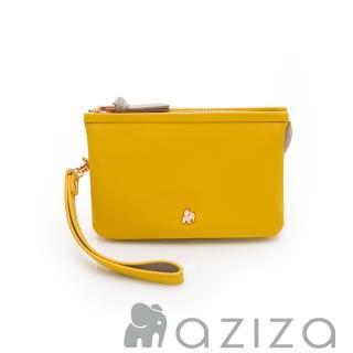 【AZIZA】BERYL 斜背手拎包-小(黃)好評推薦  AZIZA
