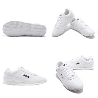 【FILA】休閒鞋 1J903S113 低筒 運動 男鞋 經典 復古 皮革 舒適 穿搭 球鞋 白 藍(1J903S113)  FILA