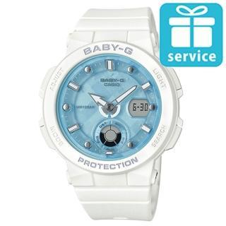 【CASIO 卡西歐】BABY-G 海洋女神波光閃耀運動腕錶-白X藍面(BGA-250-7A1)  CASIO 卡西歐