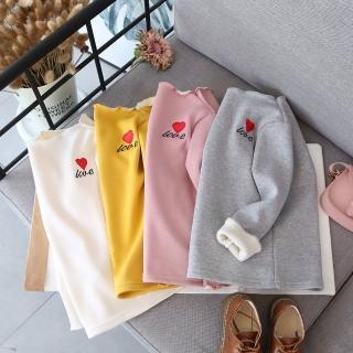 【小衣衫童裝】中小童紅色小愛心加絨保暖長袖內搭衣(1071028)  小衣衫童裝