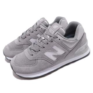 【NEW BALANCE】休閒鞋 WL574FHCB 低筒 運動 女鞋 紐巴倫 經典款 舒適 穿搭 球鞋 灰 白(WL574FHCB)  NEW BALANCE