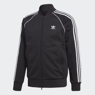 【adidas 愛迪達】外套 SST Track Jacket 男款 愛迪達 田徑夾克 立領 三條線 百搭 黑 白(CW1256)  adidas 愛迪達