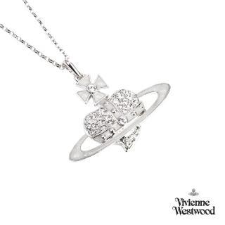 【Vivienne Westwood】璀璨銀色土星心型項鍊  Vivienne Westwood