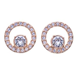【SWAROVSKI 施華洛世奇】CIRCLE玫瑰金水晶耳環(SWAROVSKI 施華洛世奇)  SWAROVSKI 施華洛世奇