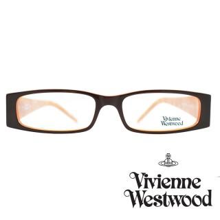 【Vivienne Westwood】光學鏡框時尚英倫龐克風-黑+橘177 04(黑+橘-VW177 04)好評推薦  Vivienne Westwood