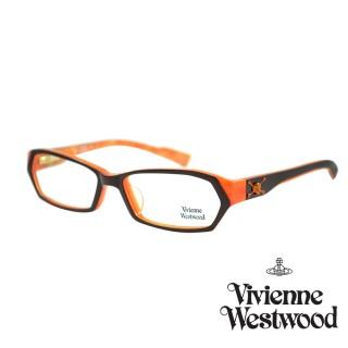 【Vivienne Westwood】光學鏡框英倫龐克風-黑橘-VW190 01(黑橘-VW190 01) 推薦  Vivienne Westwood