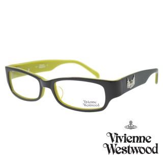 【Vivienne Westwood】光學鏡框英倫龐克風-黑綠-VW191 01(黑綠-VW191 01)  Vivienne Westwood
