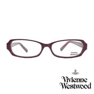 【Vivienne Westwood】光學鏡框經典鑽飾英倫風-暗桃-VW239 03(暗桃-VW239 03)  Vivienne Westwood