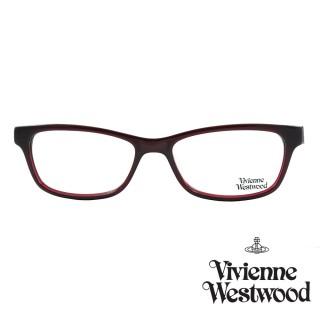 【Vivienne Westwood】光學鏡框經典龐克英倫風-暗紅-VW290 04(暗紅-VW290 04)  Vivienne Westwood