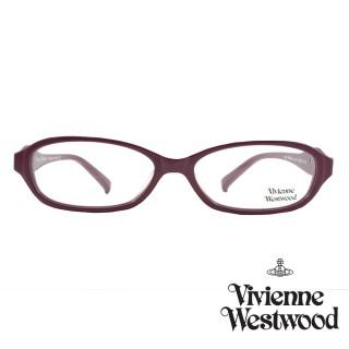 【Vivienne Westwood】光學鏡框經典鑽飾英倫風-暗桃紅-VW240 01(暗桃紅-VW240 01)好評推薦  Vivienne Westwood