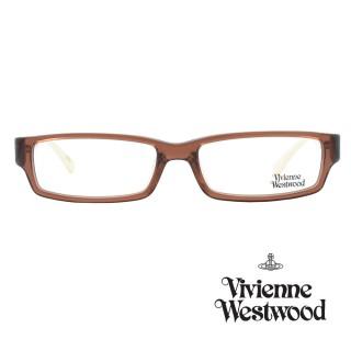 【Vivienne Westwood】光學鏡框經典個性英倫風-咖/米白-VW158 01(咖/米白-VW158 01)好評推薦  Vivienne Westwood