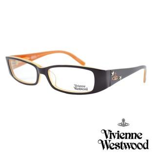 【Vivienne Westwood】光學鏡框英倫風-黑橘-VW196 01(黑橘-VW196 01)  Vivienne Westwood