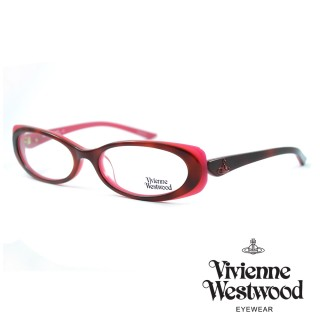 【Vivienne Westwood】光學鏡框英倫風-琥珀紅-VW198 03(琥珀紅-VW198 03)真心推薦  Vivienne Westwood